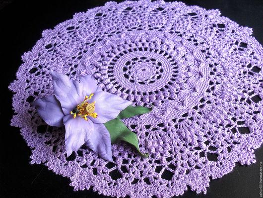 """Текстиль, ковры ручной работы. Ярмарка Мастеров - ручная работа. Купить Ажурная салфетка """"Нежность"""".  Сделаю на заказ в любом цвете.. Handmade."""