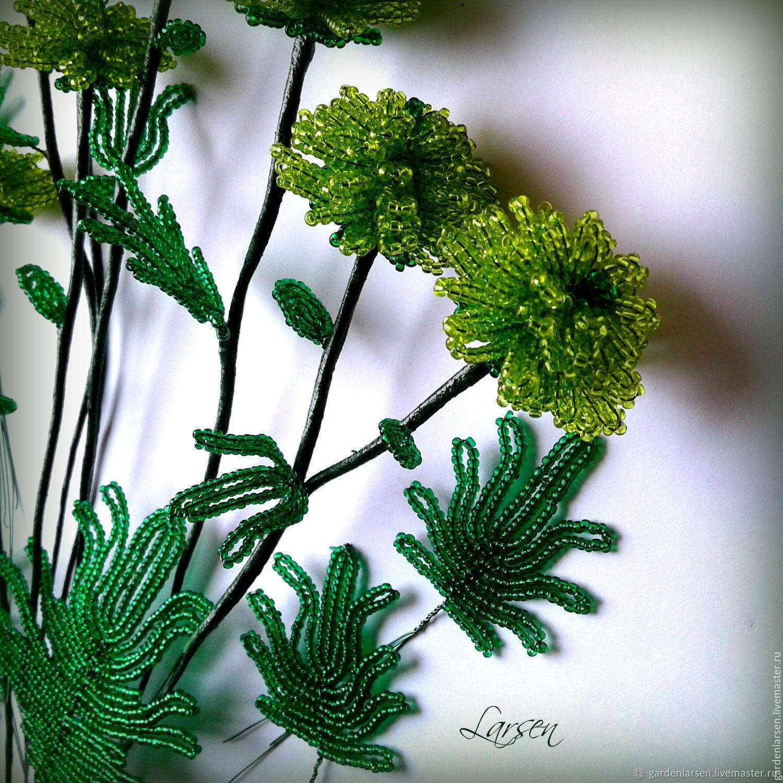 листья из бисера пошагово с фото когда оконный
