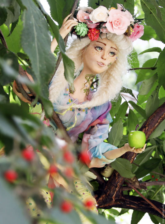 Коллекционные куклы ручной работы. Ярмарка Мастеров - ручная работа. Купить Девочка -ЛЕТО. Handmade. Комбинированный, кукла в подарок, куколка