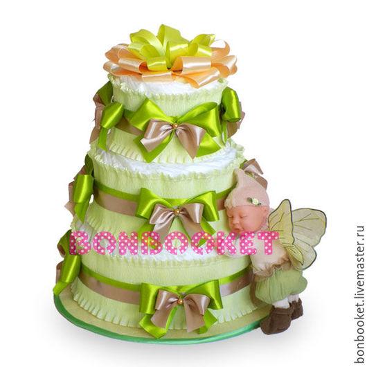 торт из памперсов купить, торт из памперсов москва, торт из памперсов для мальчика, подарок новорожденному