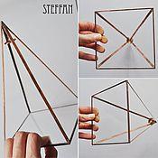 Для дома и интерьера ручной работы. Ярмарка Мастеров - ручная работа Пирамида медные грани. Handmade.