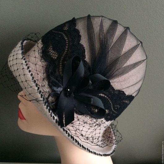 Шляпы ручной работы. Ярмарка Мастеров - ручная работа. Купить Шляпа бежевая с вуалью. Handmade. Шляпа с вуалью, купить шляпку