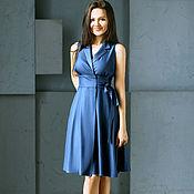 Одежда ручной работы. Ярмарка Мастеров - ручная работа Платье синее джинсовое, арт. 2605. Handmade.