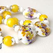 Украшения handmade. Livemaster - original item Beads Sunny day. Handmade.