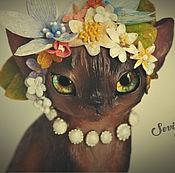 Куклы и игрушки handmade. Livemaster - original item Nadia, Burmese cat. Handmade.