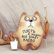 Мягкие игрушки ручной работы. Ярмарка Мастеров - ручная работа Кот Рыбак. Handmade.