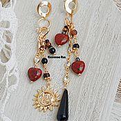Украшения handmade. Livemaster - original item Beautiful BOHO - chic earrings with red jasper