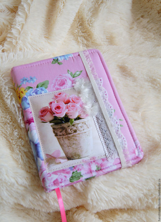 Блокноты ручной работы. Ярмарка Мастеров - ручная работа. Купить Блокнот «Розы». Handmade. Розовый, блокнот для записей, цветы