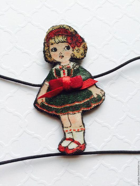 """Детская бижутерия ручной работы. Ярмарка Мастеров - ручная работа. Купить Резиночка на голову для девочки """"Betsy"""". Handmade. Комбинированный, на рождество"""