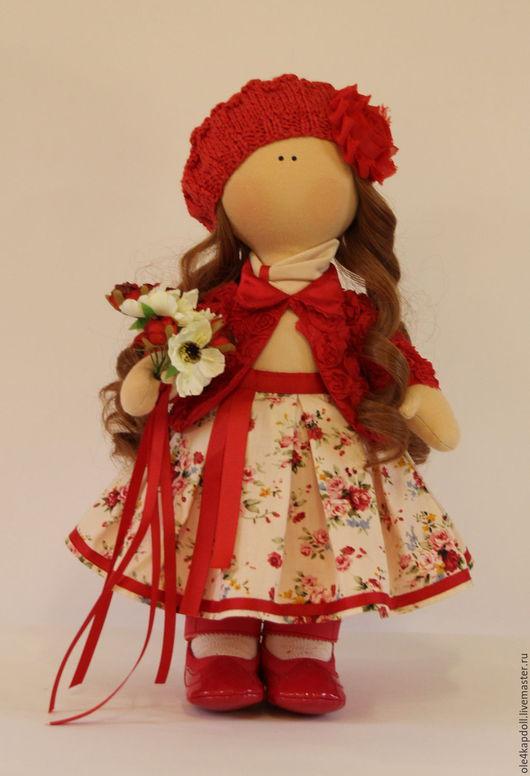 """Куклы тыквоголовки ручной работы. Ярмарка Мастеров - ручная работа. Купить Авторская кукла """"Красная шапочка"""". Handmade. Ярко-красный"""