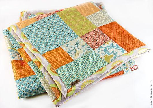 Текстиль, ковры ручной работы. Ярмарка Мастеров - ручная работа. Купить Лоскутное одеяло 147х195 см. Handmade. Лоскутное одеяло