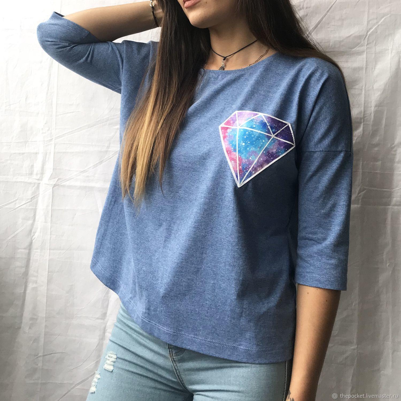 Longclip free space geometric pocket, T-shirts, Krasnodar,  Фото №1
