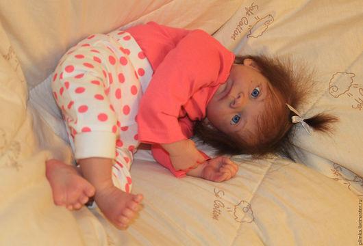 Куклы-младенцы и reborn ручной работы. Ярмарка Мастеров - ручная работа. Купить Малышка из молда Вивьен, ПРОДАНА. Handmade. Бежевый