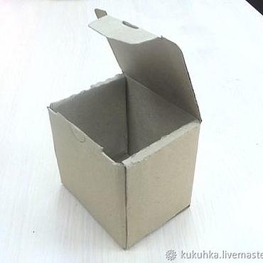 Материалы для творчества ручной работы. Ярмарка Мастеров - ручная работа Коробка самосборная, 80х70х80 мм. Handmade.