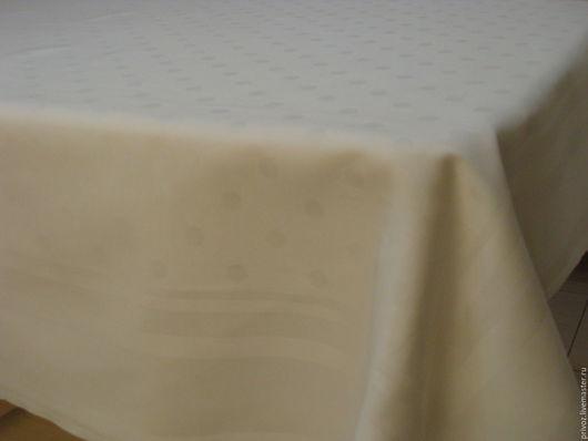 Винтажные предметы интерьера. Ярмарка Мастеров - ручная работа. Купить Белая винтажная скатерть дамасковая ткань.. Handmade. Белый, полотно