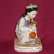 Винтаж handmade. Livemaster - original item THE GIRL, A YOUNG UZBEK WITH A KETTLE, LITTLE MISTRESS. DZ DULEVO 1959. Handmade.