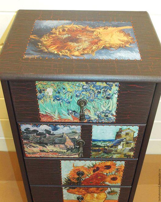 """Мебель ручной работы. Ярмарка Мастеров - ручная работа. Купить Комод """"Винсент Ван Гог"""". Handmade. Комод, подсолнух"""