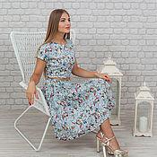 Одежда ручной работы. Ярмарка Мастеров - ручная работа Платье из хлопка в винтажном стиле. Handmade.