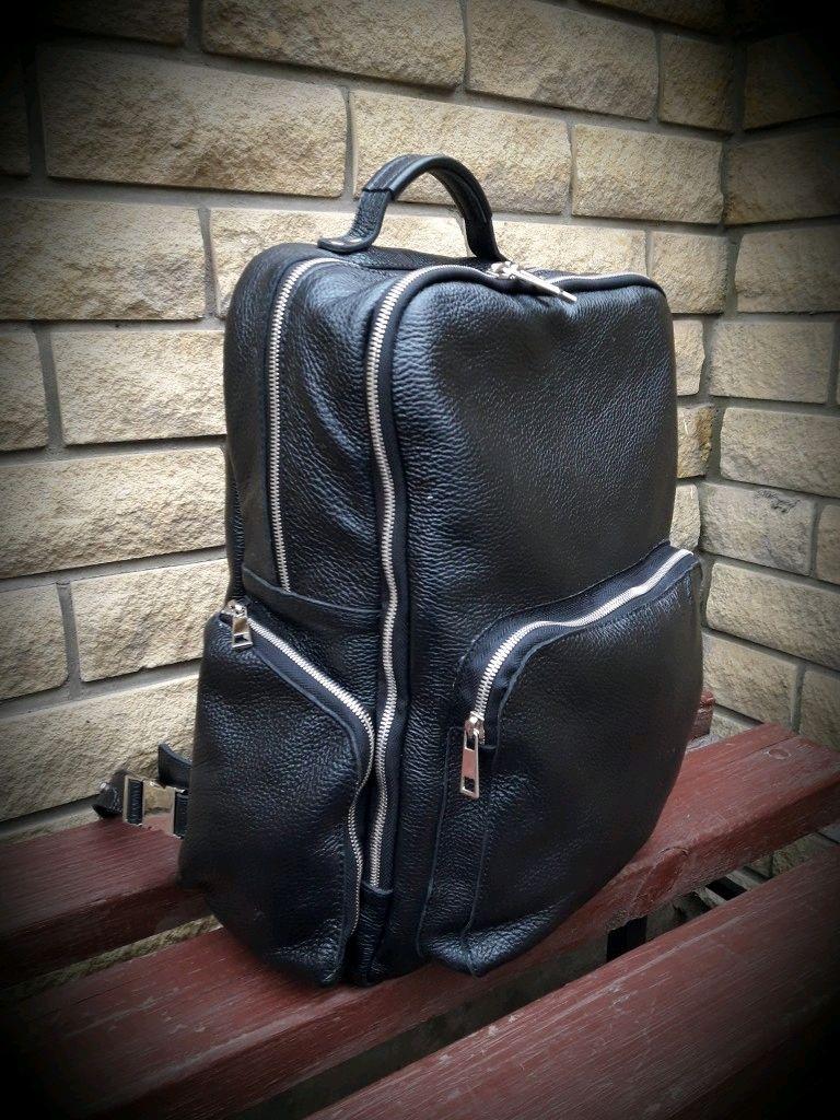 Большой рюкзак-слинг из натуральной кожи ручной работы, Мужской рюкзак, Воронеж,  Фото №1