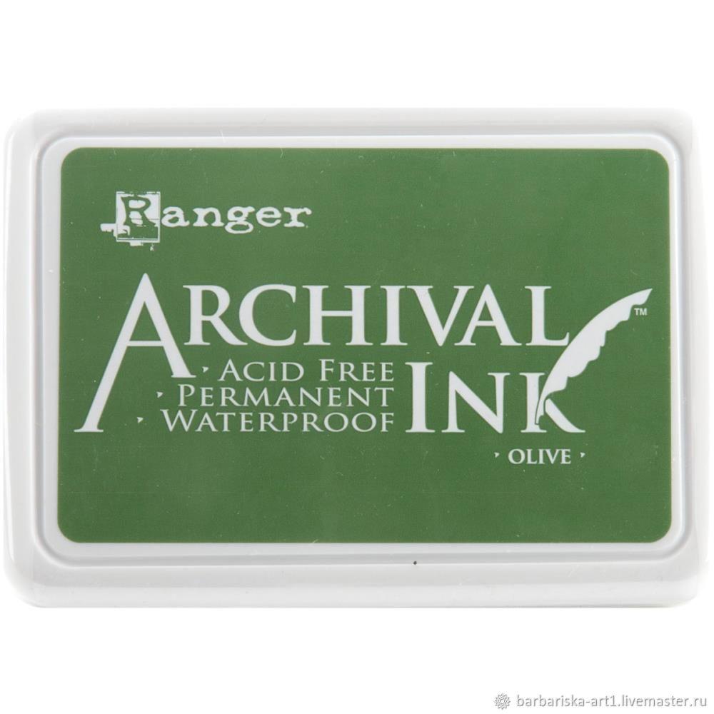 Чернильная подушечка Archival Ink Olive от Ranger, Инструменты для скрапбукинга, Смоленск,  Фото №1