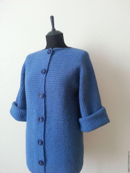 Верхняя одежда ручной работы. Ярмарка Мастеров - ручная работа. Купить Пальто лаконичное. Handmade. Однотонный, универсальный, верхняя одежда