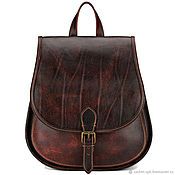Сумки и аксессуары handmade. Livemaster - original item Leather backpack the Herald (exclusive cherry). Handmade.
