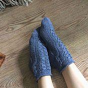 """Аксессуары ручной работы. Ярмарка Мастеров - ручная работа """"Джинсовые"""" хлопковые носки. Handmade."""