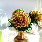Цветы и флористика handmade. Livemaster - original item Bouquet of roses in a vase. Handmade.