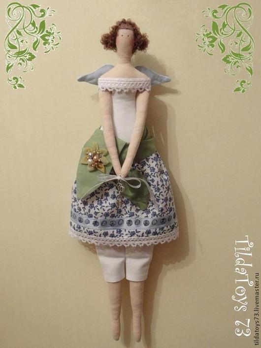 Куклы Тильды ручной работы. Ярмарка Мастеров - ручная работа. Купить Анечка, фея с ключиком от счастья. Handmade. Голубой, tildashop