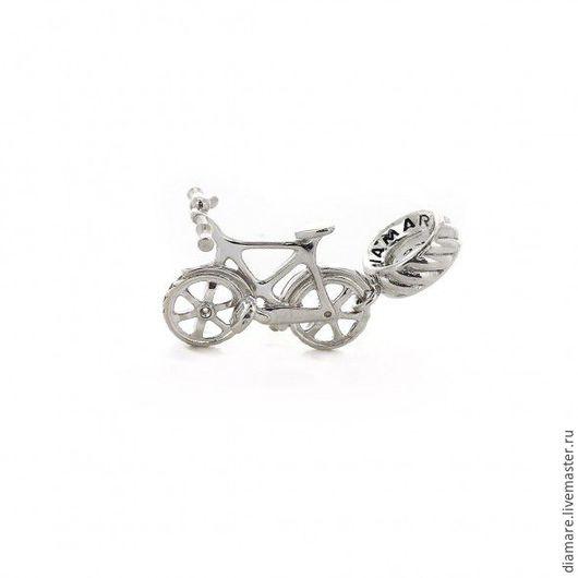 Арт. 04-0081. Серебряная шарм-подвеска `Велосипед`.