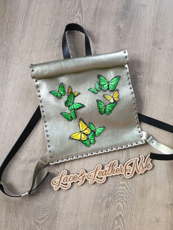 Женские сумки ручной работы. Ярмарка Мастеров - ручная работа. Купить Рюкзак с бабочками,разные цвета. Handmade. Рюкзак