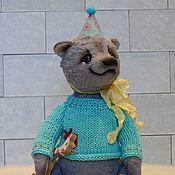 Куклы и игрушки ручной работы. Ярмарка Мастеров - ручная работа Мишка тедди Валик игрушка. Handmade.