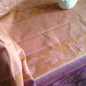 """Для дома и интерьера ручной работы. Ярмарка Мастеров - ручная работа Скатерть льняная жаккардовая """"Дубки"""". Handmade."""