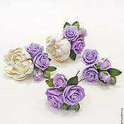 Свадебный салон ручной работы. Ярмарка Мастеров - ручная работа Пионы и розы для прически из полимерной глины. Handmade.