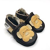 Одежда детская handmade. Livemaster - original item Doggy Baby Moccasins, Baby Shoes Leather, Soft sole baby shoes. Handmade.