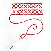 """Подарки к праздникам ручной работы. Ярмарка Мастеров - ручная работа Салфетка под прибор """"Вышивка крестом"""". Handmade."""