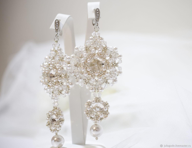 55b689ef3fa3 manualidades. Livemaster - hecho a mano. Comprar De la boda aretes  pendientes para novia · manualidades.