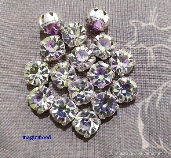 1 piece Rhinestones in dapples Czech Vitrail Light ss40 8,4-8,7 mm circle crab, Rhinestones, Chelyabinsk,  Фото №1