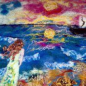 Картины и панно ручной работы. Ярмарка Мастеров - ручная работа Валяная картина Ожидание. Handmade.