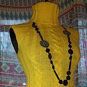 Одежда ручной работы. Ярмарка Мастеров - ручная работа Очень теплый жилет с косами связан на спицах из 100% шерсти меринос. Handmade.