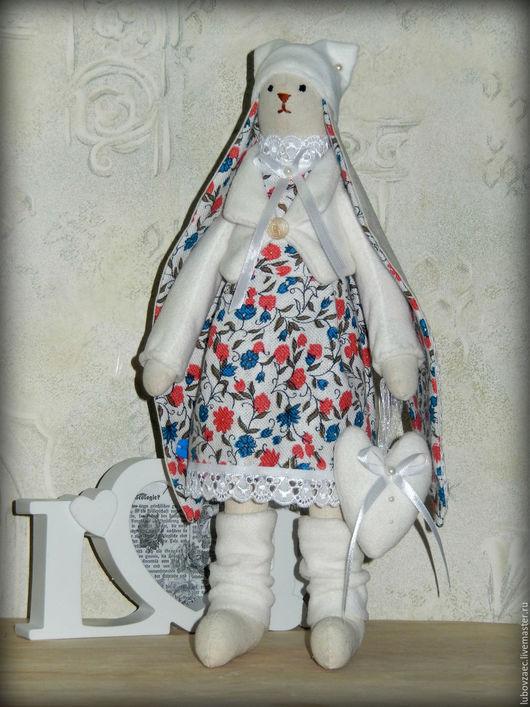 Куклы Тильды ручной работы. Ярмарка Мастеров - ручная работа. Купить Заяц Тильда праздничный. Handmade. Белый