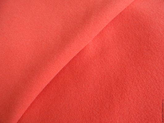 """Шитье ручной работы. Ярмарка Мастеров - ручная работа. Купить -20%Итальянская пальтовая ткань """"Коралл"""". Handmade. Коралловый, шерсть италия"""