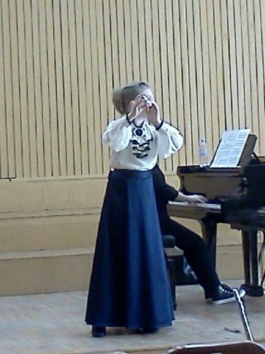 Одежда для девочек, ручной работы. Ярмарка Мастеров - ручная работа. Купить комплект для юной флейтистки. Handmade. Тёмно-синий