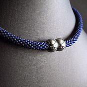 Chokers handmade. Livemaster - original item Blue choker/necklace/choker