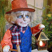 Куклы и игрушки ручной работы. Ярмарка Мастеров - ручная работа ФОНАРЩИК  текстильная кукла. Handmade.