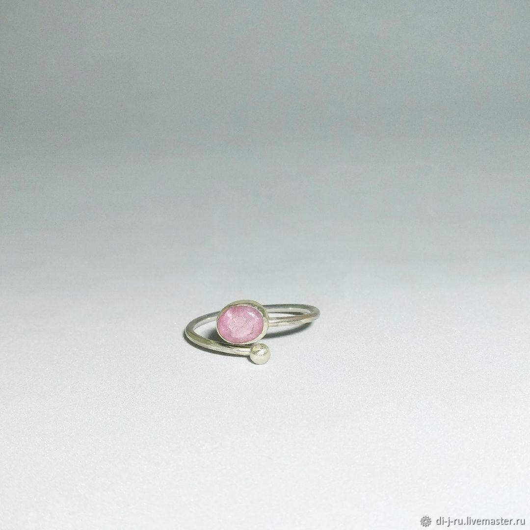 """Кольцо с турмалином """"Розовая мечта"""", безразмерное, Кольца, Казань,  Фото №1"""