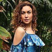 Одежда handmade. Livemaster - original item Sun printing silk dress N5.. Handmade.