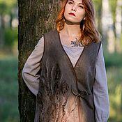 Одежда handmade. Livemaster - original item Vest felted Whisper herb. Handmade.