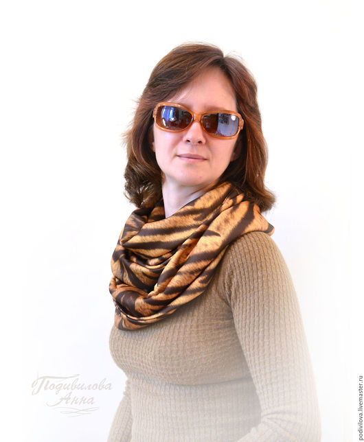 Весенний осенний снуд-шарф труба хомут  из вискозного трикотажа . Модный стильный снуд шарф. Шапка шарф женский зимний.Анна Подивилова. Снуд для девушки,женщины,девочки. Снуд интернет магазин.