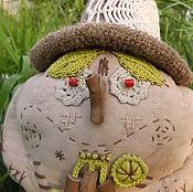 Куклы и игрушки ручной работы. Ярмарка Мастеров - ручная работа Лесной Дед-клюквенник с корзинкой - кукла для интерьера. Handmade.
